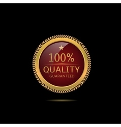 Quality guaranteed label vector image