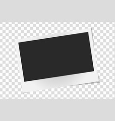 Realistic photo frame isolated template retro vector