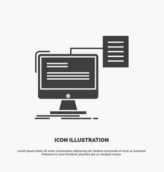 Resume storage print cv document icon glyph gray vector
