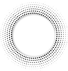 Round banner of pixels Differing halftone ring vector