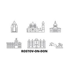 Russia rostov on don line travel skyline set vector