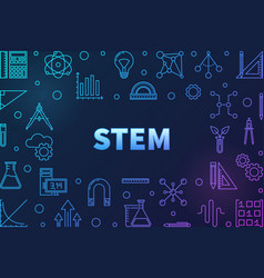 Science technology engineering and math colored vector