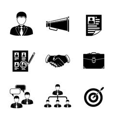 Set head hunter icons - handshake resume vector