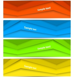 Set of abstract lines banners vector image