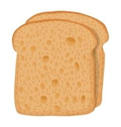 Sliced bread icon cartoon style vector