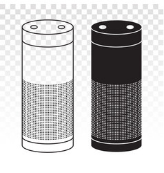Smart speaker virtual assistants voice vector