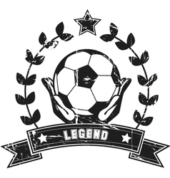 soccer legend vector image