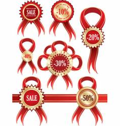 stickers labels vector image