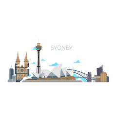 Sydney city panorama australia travel vector