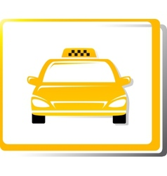 Taxi car image vector