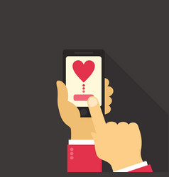 telephone love vector image