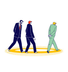 Thoughtful business men walking in circles vector
