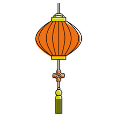 Traditional chinese lantern in a flat style vector