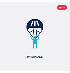 two color paraplane icon from entertainment vector image