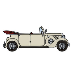 Vintage white convertible vector