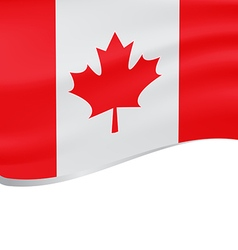Waving flag of Canada isolated on white vector image