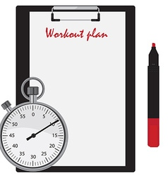 Workout plan vector