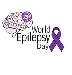 world epilepsy day symbolic image brain vector image