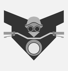 biker concept minimal symbol vector image