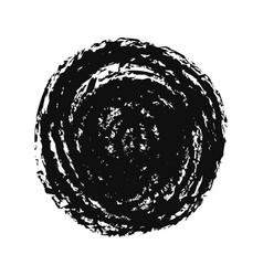 black grunge hand drawn round spot on white vector image
