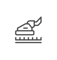 carpet cleaning line icon vector image vector image