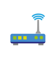 colorful router digital wifi technology network vector image