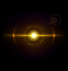 gold space explosion cosmos burst vector image