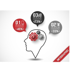 INFOGRAPHIC HEAD STYLE 3 vector image vector image