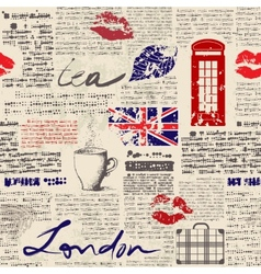 Newspaper London vector image
