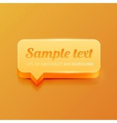 Orange speech bubble vector image vector image