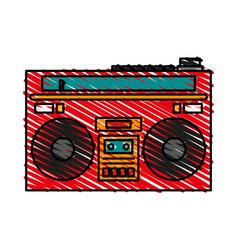 radio retro old icon vector image vector image
