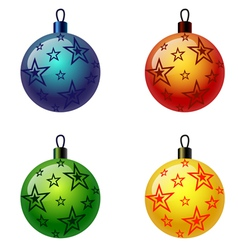 Set of Christmas balls Christbaumschmuck Weihnacht vector image
