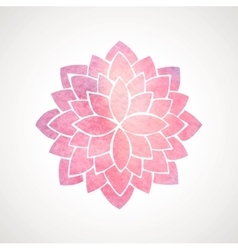 Watercolor pink flower pattern Silhouette of vector image