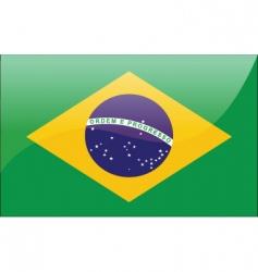 brazil flag vector image vector image