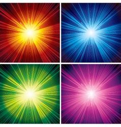 bursting background vector image vector image