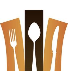 Modern Cutlery Symbol vector image vector image