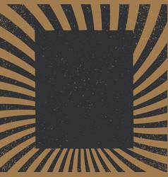 vintage sunburst pattern radial background made vector image vector image