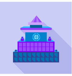colorful palace icon flat style vector image vector image