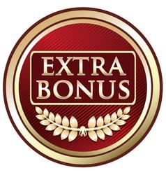 Extra Bonus Red Label vector image vector image