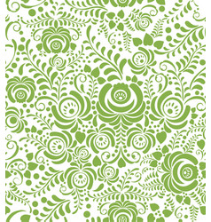 green spring floral seamless pattern background vector image vector image