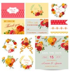 Scrapbook Design Elements - Wedding Invitation vector image
