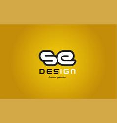 se s e alphabet letter combination digit white on vector image vector image