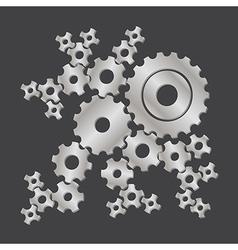 set of cogs gears vector image vector image
