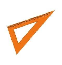 Set square ruler vector image