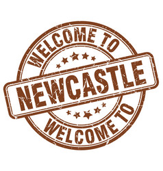 welcome to newcastle brown round vintage stamp vector image vector image
