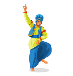 bhangra dancer in national cloth vector image
