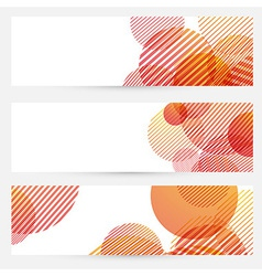 Business cards collection - circle retro pattern vector image