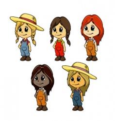 girl mascot vector image