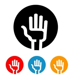 hand logo design template vote or Palm vector image vector image
