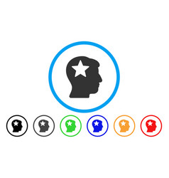 star head rounded icon vector image vector image